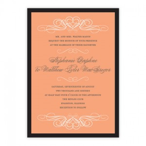 Amelia Hearts Wedding Invitations