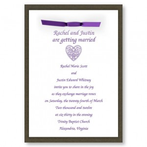 Amore Heart Wedding Invitations