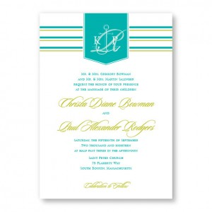 Anchor Beach Wedding Invitations