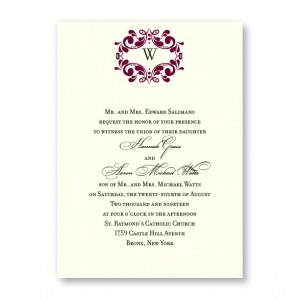 Angelina Monogram Wedding Invitations
