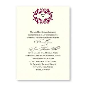 Angelina Monogram Wedding Invitations