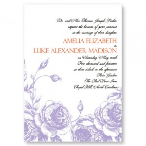 Antique Roses Wedding Invitations