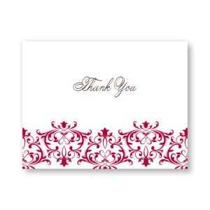 Regal Frame Letterpress Thank You Cards