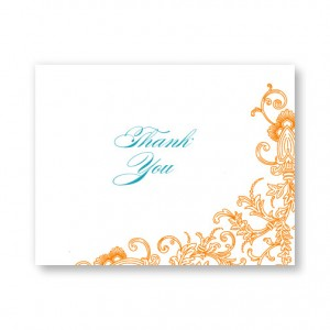 Circled With Love Letterpress Thank You Cards