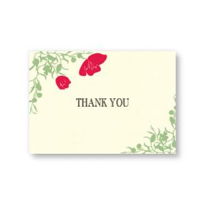 Romantic Petals Thank You Cards