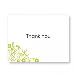 Flirty Flowers Thank You Card