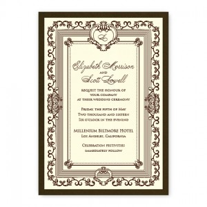 Aubrey Monogram Wedding Invitations
