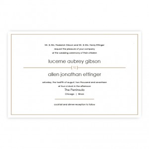 Audrey Classic Letterpress Wedding Invitations