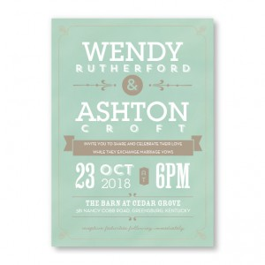 Aurora Chalkboard Wedding Invitations