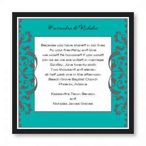 Tuscan Garden Wedding Invitations