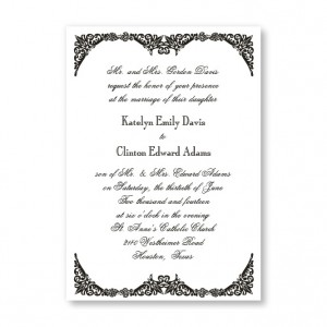 Elegantly Edged Wedding Invitations