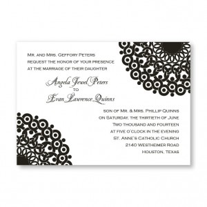 Modern Lace Wedding Invitations - LIMITED STOCK AVAILABLE