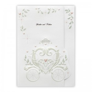 Fantasy Carriage Wedding Invitations