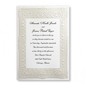 Pure Romance Wedding Invitations SAMPLE