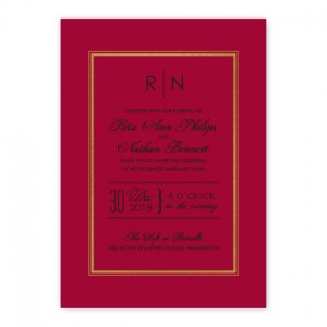 Kennedy Wedding Invitations - Real Foil Invitation!