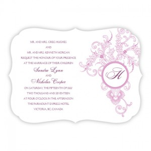 Circle Imprint II Wedding Invitations SAMPLE