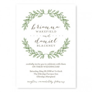Verdant Wedding Invitations SAMPLE