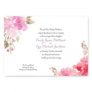 Floral Affair Wedding Invitations
