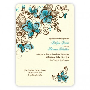 Romance in Bloom Wedding Invitations