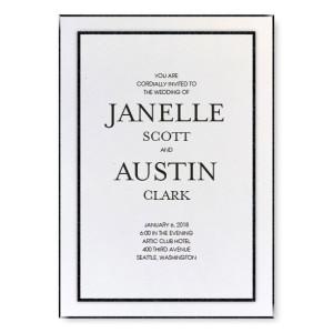 Glitz and Glam Wedding Invitations - White/Black