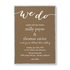 Rustic Charm Foil Wedding Invitations