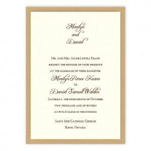 Abbey 2-Layer Wedding Invitations SAMPLE