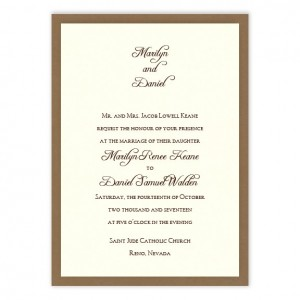 Abbey 2-Layer Wedding Invitations