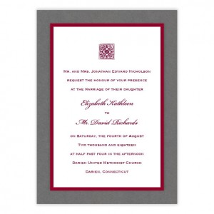 Reagan 3-Layer Wedding Invitations SAMPLE