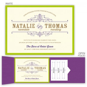 Helena Folio Pocket Wedding Invitations
