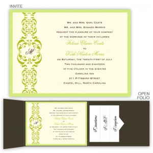 Lacey Folio Pocket Wedding Invitations