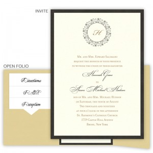 Hannah Folio Pocket Wedding Invitations SAMPLE