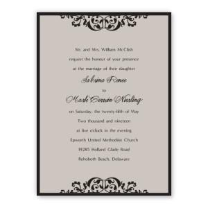 Sabrina 2-Layer Thermography Wedding Invitations