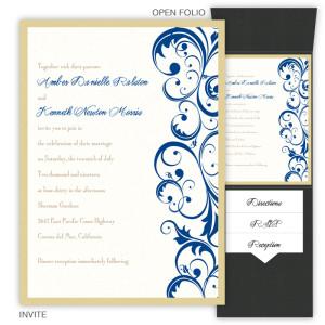 Amber Folio Pocket Wedding Invitations