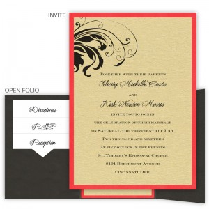 Quinn Folio Pocket Wedding Invitations