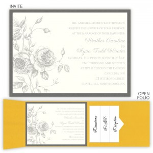 Elizabeth Folio Pocket Wedding Invitations