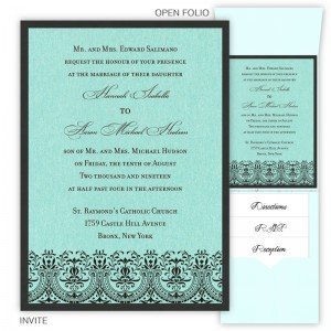 Victoria Folio Pocket Wedding Invitations