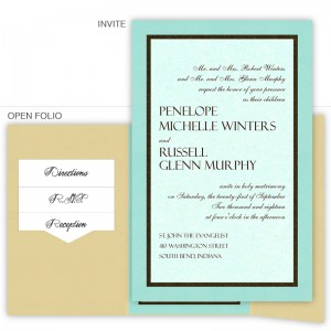 6 x 9 Gate Folio Pocket Wedding Invitations  - 3 Layers