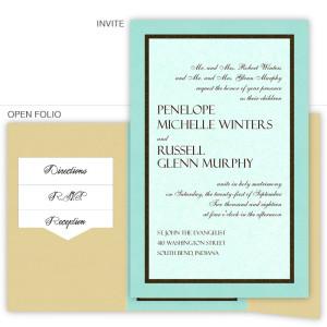 6 x 9 Gate Folio Pocket Wedding Invitations  - 3 Layers
