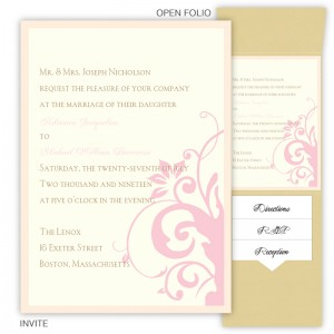 Cassandra Folio Pocket Wedding Invitations