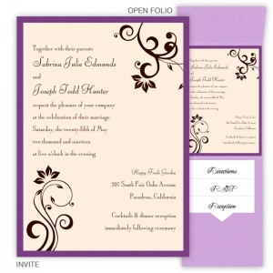 Millie Folio Pocket Wedding Invitations