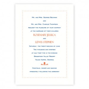 Isabella Wedding Invitations SAMPLE