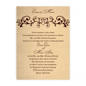 Emma Heart Wedding Invitations