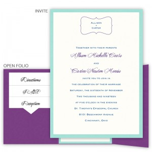 Allison Folio Pocket Classic Wedding Invitations