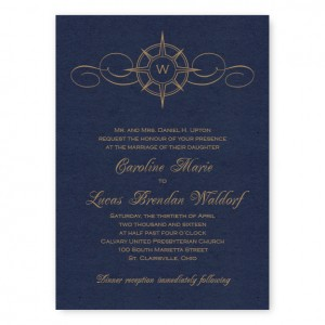 Compass Wedding Invitations SAMPLE