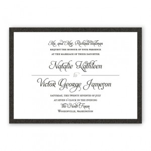 Gretchen 2-Layer Thermography Wedding Invitations