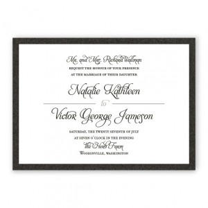 Gretchen 2-layer Wedding Invitations SAMPLE