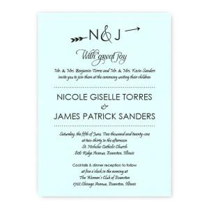 Layla Thermography Wedding Invitations