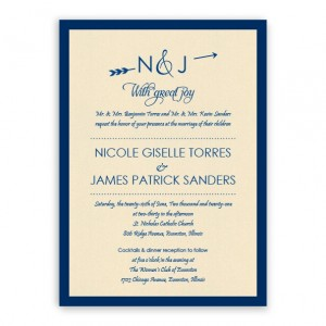 Layla 2-Layer Thermography Wedding Invitations