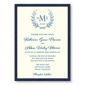 Laurel 2-Layer Wedding Invitations SAMPLE