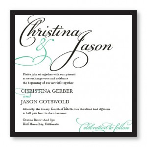 Bella Square 2-Layer Wedding Invitations SAMPLE